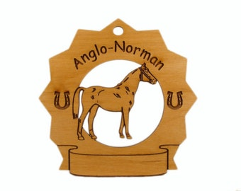 8025 Anglo Norman Horse Personalized Ornament