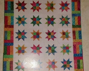 Stars & Strips Multi-Sized Quilt  Pattern by Atkinson Designs FREE US SHIPPING!
