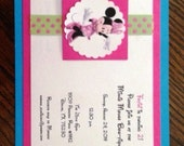 Minnie Mouse Bow-tique Invitations