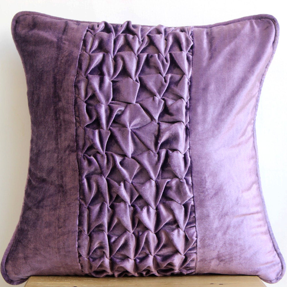 Throw Pillows With Covers : Designer Purple Throw Pillows Cover 16x16 Velvet