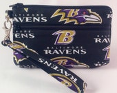 Baltimore Ravens Football NFL Stadium Regulation Size Game Day Wallet with Detachable Strap