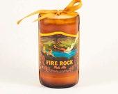 Craft Bier Hipster Feuer Rock Pale Ale Bier Kerze Aloha Kona Brauerei große Insel Hawaii Lava Flow Hawaiian Volcano Strand Dekor Schnaps Kerze