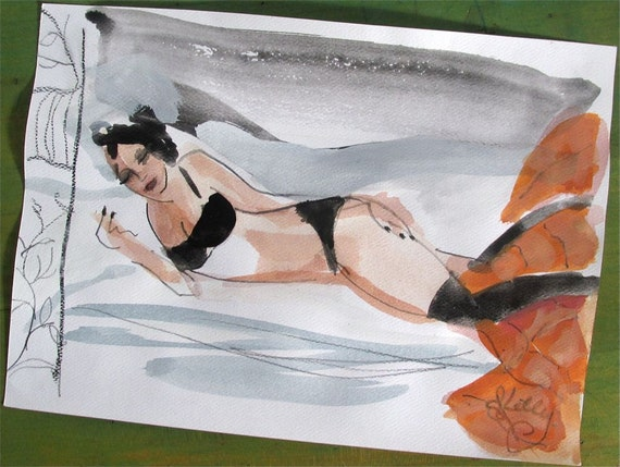 Boudoir Session painting 2  by Gretchen Kelly