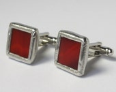 Cherry - Mens Stained Glass Cuff Link Set
