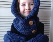 Super soft Crocheted Child's Hooded Cowl
