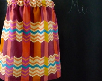 BUY 2 get 1 FREE - Skirt - Heavyweight Cotton Velveteen - Anna Maria Horner - Mod Chevron - Made in ANY Size - Boutique Mia