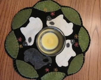 Grazing Sheep Candle Mat