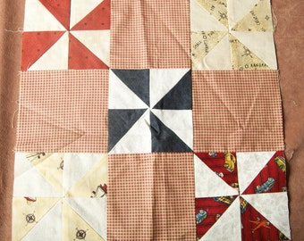 Windmill Quilt Top Square