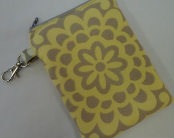 Grey and yellow cell phone case camera case Wallflower READY TO SHIP