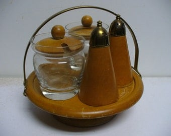 Mid Century Kitchen Condiment Carousel