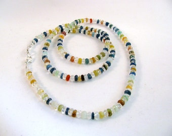 Mixed Gemstone Necklace 28 inches RKS473 RKMixables Silver Collection