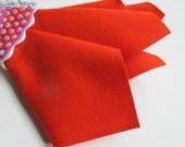 Orange-Red Felt, Pure Merino Wool, Choose Size, Large Felt Sheet, Felt Square, Nonwoven Fabric