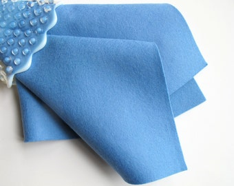 Wedgwood, Blue Wool Felt, Pure Merino, Waldorf Handwork, Penny Rug Supply, Applique, Baby Crafts, Nonwoven Wool, DIY Felt Craft Supply