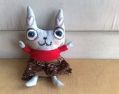 Hand painted art doll - Momoko the summer cat