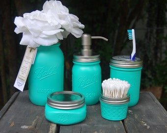 Popular items for cottage cabin decor on etsy for Sea green bathroom accessories