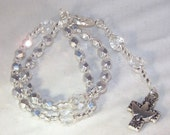 Anglican Rosary  - Shown with Silver Metallic Glass Beads