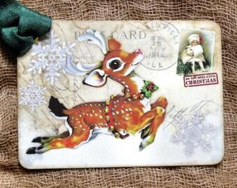 Reindeer Christmas Tags #554