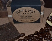 Cafe Mocha Goat's Milk Soap Gardener Fisherman Exfoliating Soap with Coffee and Cocoa
