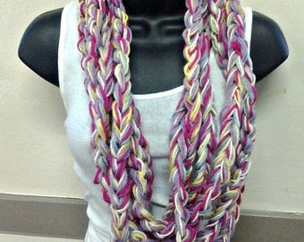 Pink Lavender Blend Infinity Scarf
