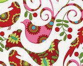 Christmas Fabric Pretty Birds 1/2 Yard by Michael Miller Fabrics Pillow and Maxfield