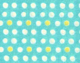 Michael Miller Fabric Painted Dots in Aqua 1/2 Yard by Laura Gunn