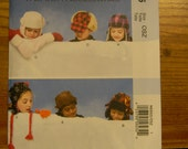 Uncut McCall's Pattern 6605 Child One Size Boys and Girls Hats and Mittens