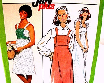 1970s Sundress Pattern size 12 UNCUT Womens Sundress, Jumper Dress, Short or Maxi Dress Vintage Sewing Pattern