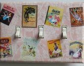 3 CHOICES of Alice in Wonderland Triple & combo switchplates- Alice in Wonderland wall decoration Alice in Wonderland book covers combos(C)