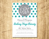 Monograms & Mimosas Shower Invitation - Digital Download