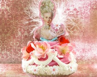 Marie Antoinette Fake Cupcake Artwork 12 Legs Designer Collection Marie Antoinette Decor for Birthdays/Parties or Cake Topper