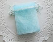 Fabric Favor Bags / Ocean treat bag / Organza Bags / Party favor bags / Wedding Favor bags / treat bags / Jewelry gift bag / 3 x 4