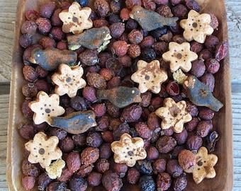 Rustic Farmhouse Sunflower and Crow Saltdough Mix, Grubbied,Crow,Blackbird,Summer Decor, Bowl Filler, Potpourri Addin, Seasonal Decor,Flower