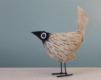 Wool Felt Pip Bird - Comet Stone
