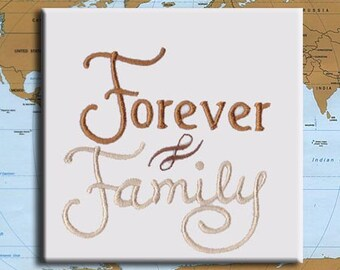 Forever Family Adoption Embroidery Design