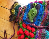 forest pouch----knitting on the go