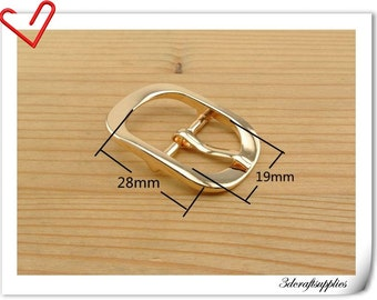 Center Bar Buckle 3/4 inch (19mm) gold Pin buckle,belt buckle,purse buckle 6 pieces K116