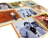 Personalized handmade photo coasters bridal shower gift graduation present or anniversary present house decor Set of 6 bridal gift
