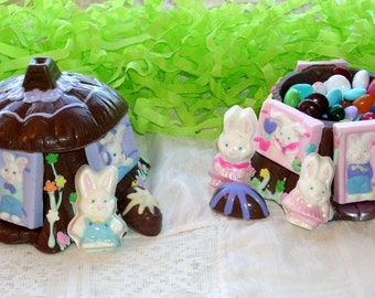 Chocolate Easter Bunny Stump House