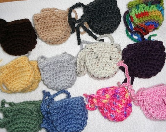 """Doll shoes, PICK 3 PAIRS, crocheted doll shoes, doll booties for 15"""" bamboletta or waldorf dolls with stump feet 6"""" round, doll accessories"""