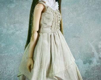 jiajiadoll 2 pieces cream beige layered and lace dress for Momoko or Misaki or Blythe or Middie Blythe or ob27 ob23