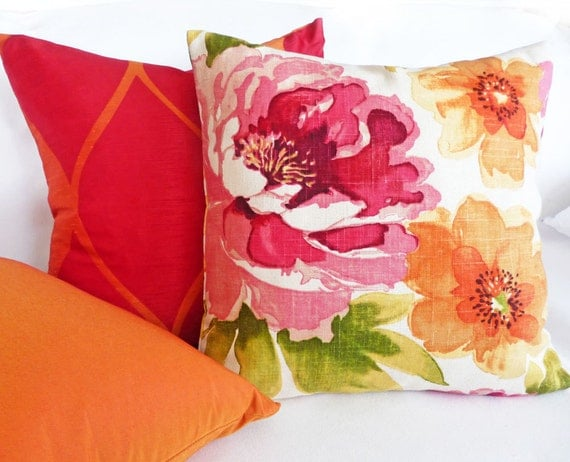 Watercolor Floral Pillow Colorful Throw by PillowThrowDecor : il570xN5122050316351 from www.etsy.com size 570 x 462 jpeg 67kB