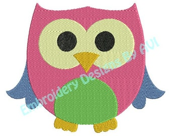 Cute Owl IV Machine Embroidery Design 4x4 and 5x7 Instant Download