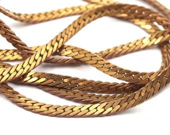 Brass Solder Chain, 1m Raw Brass Soldered Chain (3.5mm) ( Z095 )