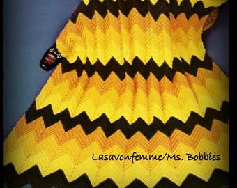Crochet Classic Ripple Afghan Pattern - PDF 7477713 - Instant Download