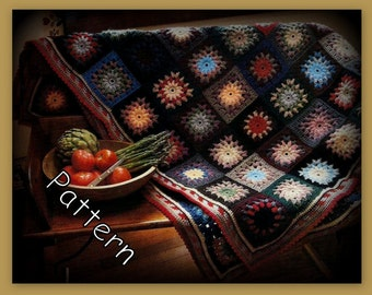 Crochet Puff Stitch Afghan Pattern - PDF 013086 - Instant Download