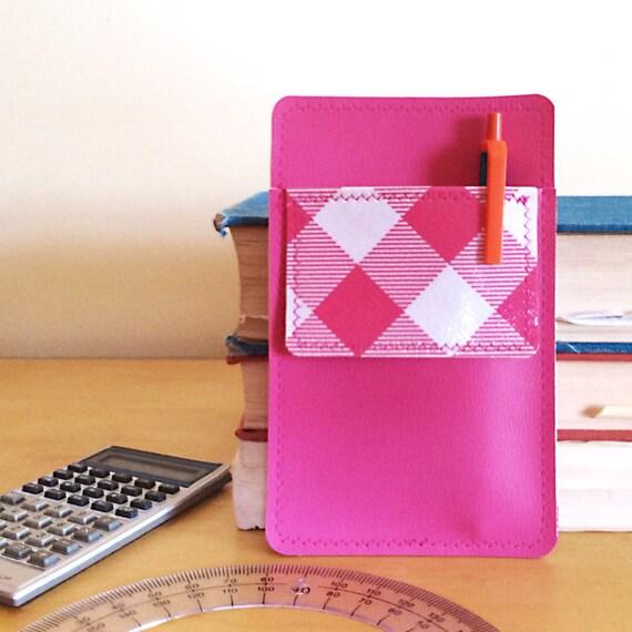 Nerd Power Vinyl Pocket Protector In Bright Pink Matte