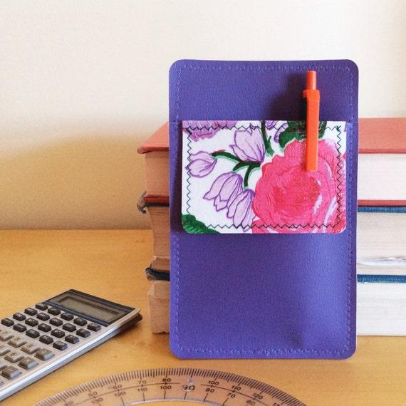 Nerd Power Vinyl Pocket Protector In Crocus Purple Matte