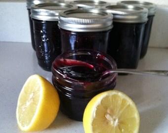 Jam Blueberry lemon zest 8 oz half pint
