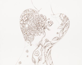 "Botanicalia Original Drawing 19""x 24"""