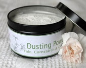 Coconut cream scented body powder. organic dusting powder Mens scented powder